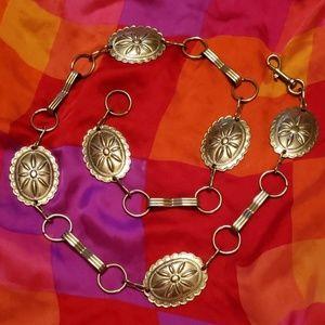 Vtg silver concho belt